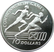 10 Dollars (XIII Commonwealth Games; Silver Proof Issue) -  reverse