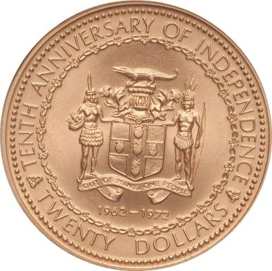 20 Dollars Elizabeth Ii Independence Jamaica Numista