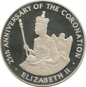 25 Dollars - Elizabeth II (Silver Coronation) – reverse