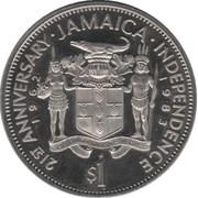 1 Dollar  - Elizabeth II (Independence) – reverse