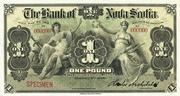 1 Pound (Bank of Nova Scotia) – obverse