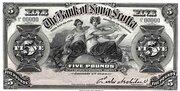 5 Pounds (Bank of Nova Scotia) – obverse