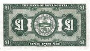 1 Pound (Bank of Nova Scotia) – reverse