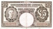 5 Pounds - George VI (Brown) – obverse