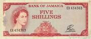 5 Shillings - Elizabeth II (English motto below arms) – obverse