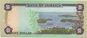 1 Dollar (L.1960; all white numerals) – reverse