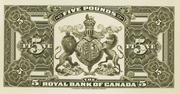 5 Pounds (The Royal Bank of Canada) – reverse