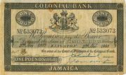 1 Pound (Colonial Bank) – obverse