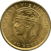 1 Farthing - George VI (With KING AND EMPEROR; large head) – reverse