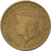 ½ Penny - George VI (With KING AND EMPEROR; large head) – reverse