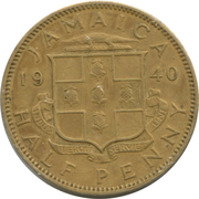 ½ Penny - George VI (With KING AND EMPEROR; large head) – obverse