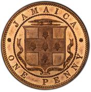 1 Penny - Victoria (Bronze piedfort) – obverse