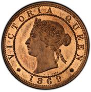 1 Penny - Victoria (Bronze piedfort) – reverse