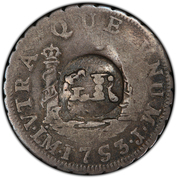 10 Pence - George II (Countermarked 1 Real of Ferdinand VI) – reverse