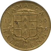 ½ Penny - George VI (Without KING AND EMPEROR) – obverse