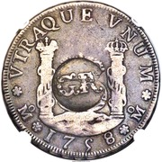 3 Shilling 4 Pence - George II (Countermarked 4 Reales of Ferdinand VI) – reverse