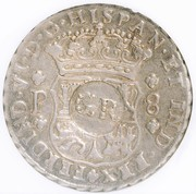 6 Shillings 8 Pence - George II (FERDIND VI D G HISPAN ET IND REX; Guatemala City mint) – obverse