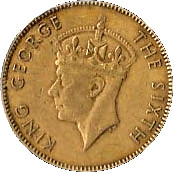 ½ Penny - George VI (Without KING AND EMPEROR) – reverse