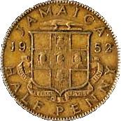 ½ Penny - George VI – reverse