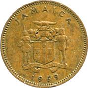 1 Cent - Elizabeth II (wide legend letters) -  obverse
