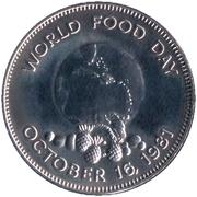 1 Dollar - Elizabeth II (FAO) – reverse