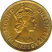 ½ Penny - Elizabeth II (Arms without supporters) – reverse