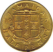 ½ Penny - Elizabeth II (Arms without supporters) – obverse