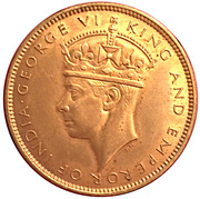 1 Penny - George VI (With KING AND EMPEROR; large head) – reverse