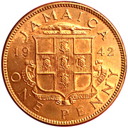 1 Penny - George VI (With KING AND EMPEROR; large head) – obverse