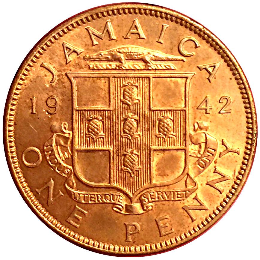 1 Penny - George VI - Jamaica – Numista
