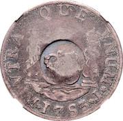 1 Shilling 8 Pence - George II (FRD VI D G HISP ET IND R; Lima mint) – reverse