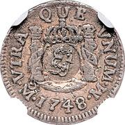 5 Pence - George II (FRD VI D G HISP ET IND R; Mexico City mint) – reverse