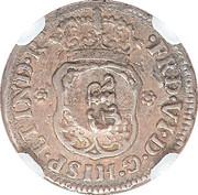 5 Pence - George II (FRD VI D G HISP ET IND R; Mexico City mint) – obverse