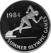 25 Dollars (1984 Olympic Games) – reverse