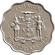10 Dollars - Elizabeth II (scalloped) – obverse