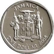 1 Dollar - Elizabeth II (round) – obverse