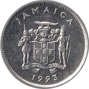 5 Cents - Elizabeth II (wide legend letters; magnetic) – obverse