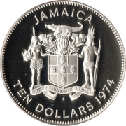 10 Dollars (Sir Henry Morgan; silver proof) -  obverse