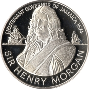 10 Dollars (Sir Henry Morgan; silver proof) -  reverse