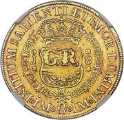 5 Pounds - George II (FERDND VI D G HISPAN ET IND REX) – reverse