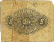 25 Dollars - The Central Bank of Western India - Yokohama – reverse