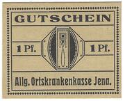 1 Pfennig (Allgemeine Ortskrankenkasse) – obverse