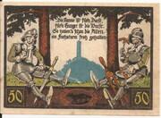 50 Pfennig (Fuchsturmgemeinde) – reverse