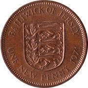 1 New Penny - Elizabeth II (2nd portrait) -  reverse