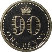 1 Penny - Elizabeth II (Queen's 90th Birthday) – reverse