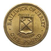 1 Pound - Elizabeth II (St. Helier) -  reverse