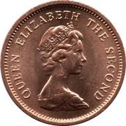½ New Penny - Elizabeth II (2nd portrait) – obverse