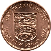 ½ New Penny - Elizabeth II (2nd portrait) – reverse