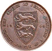 1/24 Shilling - Edward VII – reverse