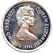 25 Pence - Elizabeth II (Silver Jubilee; Silver Proof) -  obverse